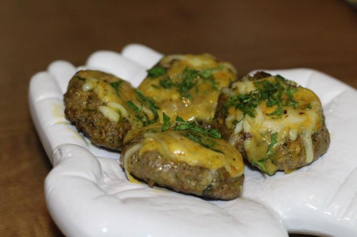 Cheese Glazed Lamb Tikki